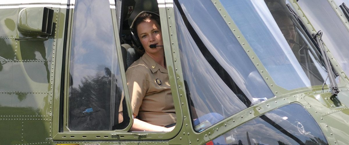 Marine One pilot Major Jennifer Grieves