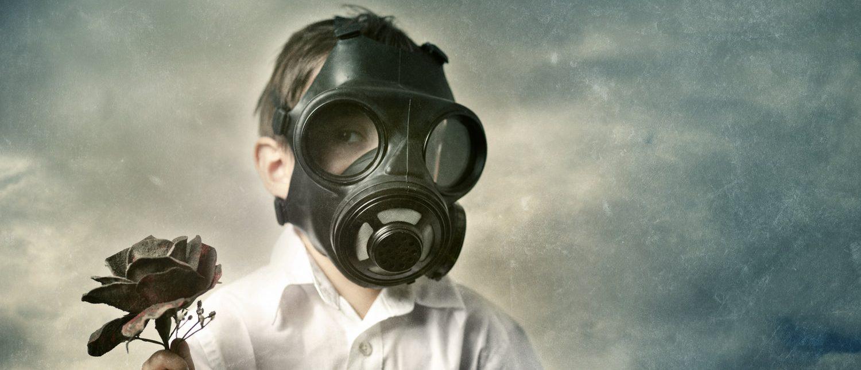 Gas Mask Boy (Shutterstock/nunosilvaphotography)