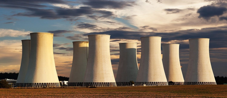 Evening colored sunset view of Nuclear power plant Jaslovske Bohunice - Slovakia (Shutterstock/Daniel Prudek)