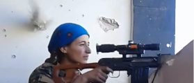 Kurdish Sniper Smiles After Dodging Death [VIDEO]