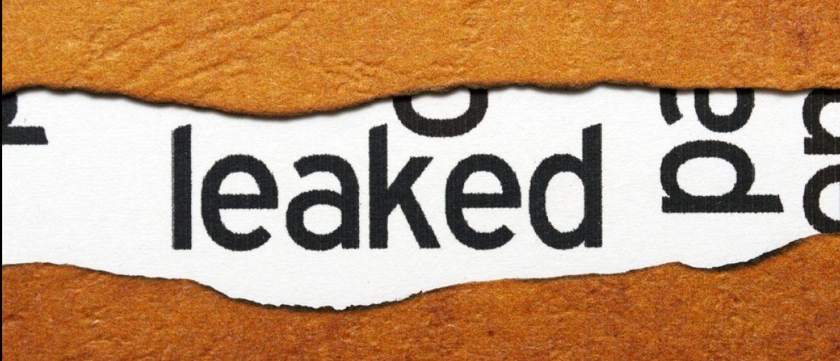 Leaked info. Credit: alexskopje/Shutterstock