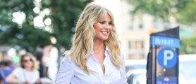 PHOTOS: Christie Brinkley Turns Heads In This Little White Number In NYC