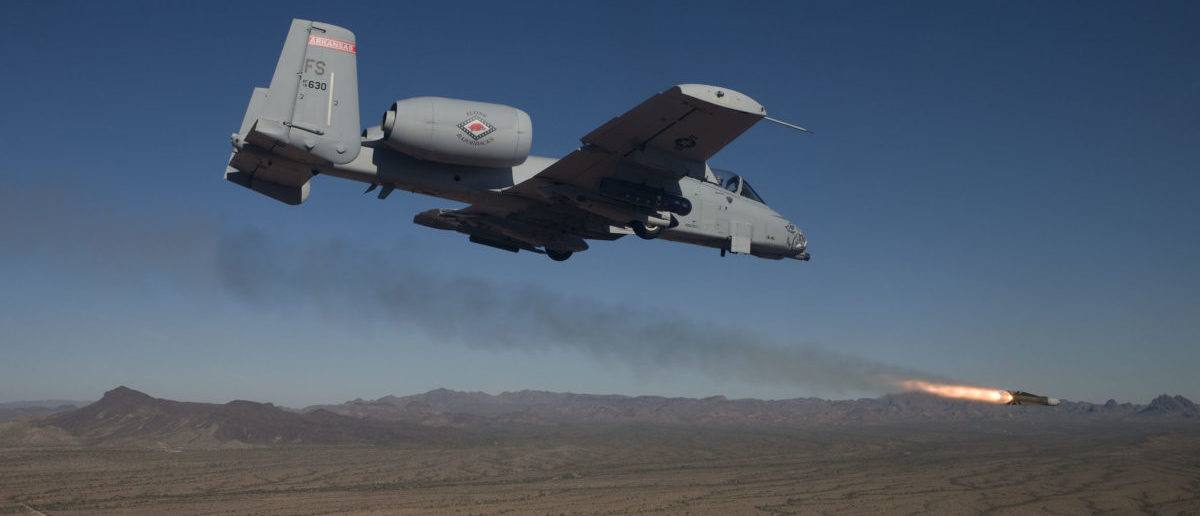 A-10C Thunderbolt II with the 188th Fighter Wing, Arkansas Air National Guard conduct close-air support training Nov. 21, 2013, near Davis-Monthan Air Force Base, Ariz. (U.S. Air Force photo/Jim Haseltine)