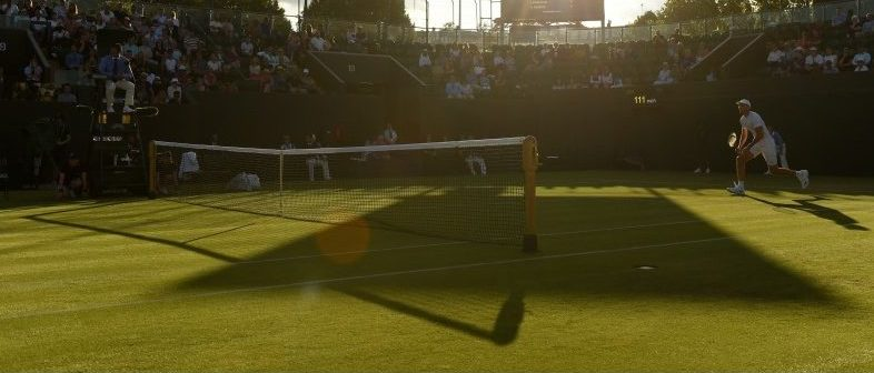 Tennis - Wimbledon - London, Britain - July 3, 2017 General view during the match between Great Britain's Aljaz Bedene and Croatia's Ivo Karlovic REUTERS/Tony O'Brien