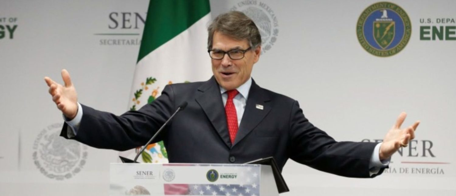 U.S. Energy Secretary Rick Perry addresses the media in Mexico City, Mexico July 13, 2017. REUTERS/Henry Romero