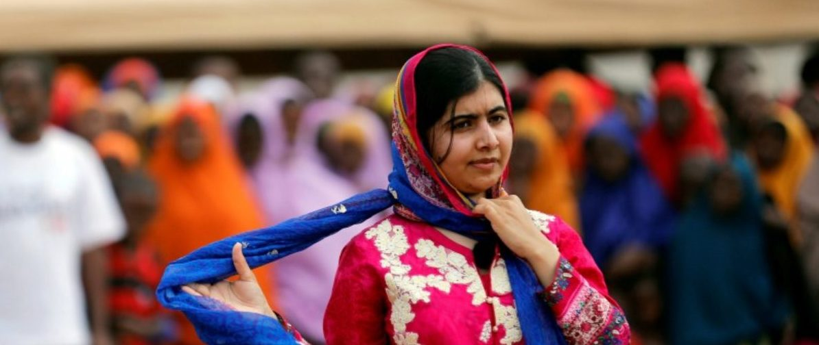 FILE PHOTO - Pakistani Nobel Peace Prize laureate Malala Yousafzai attends celebrations to mark her 19th birthday at the Juba Sports Complex in Dagahaley area of Dadaab refugee camp near the Kenya-Somalia border, July 12, 2016. REUTERS/Thomas Mukoya/File Photo