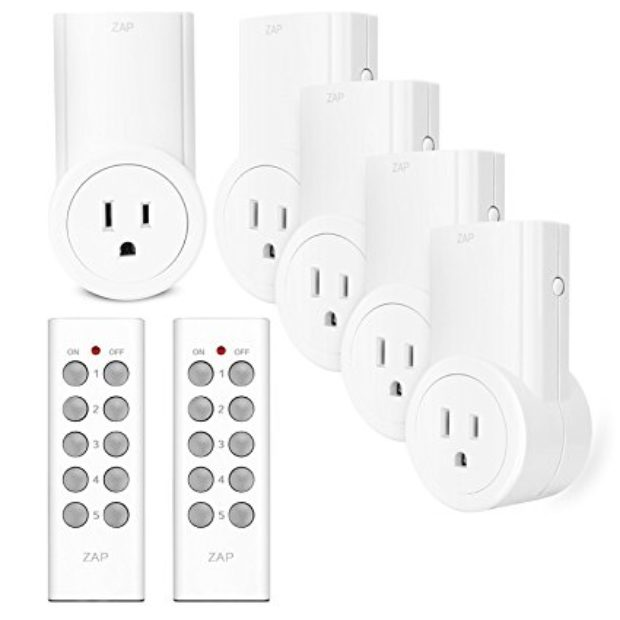 Normally $50, these remote control outlet switches are 52 percent off today (Photo via Amazon)