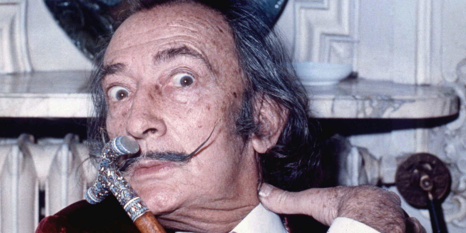 Salvador Dali in 1971 (WIkimedia Commons/Allan warren)