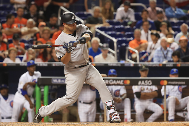 MIAMI, FL - JULY 11: Gary Sanchez #24 of the New York Yankees and the American League bats during the 88th MLB All-Star Game at Marlins Park on July 11, 2017 in Miami, Florida. (Photo by Mike Ehrmann/Getty Images)