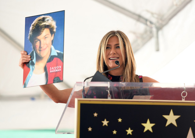 HOLLYWOOD, CA - JULY 26: Jennifer Aniston attends The Hollywood Walk of Fame Star Ceremony honoring Jason Bateman on July 26, 2017 in Hollywood, California. (Photo by Matt Winkelmeyer/Getty Images)