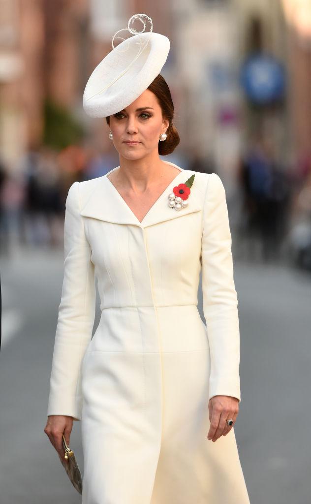 Kate Middleton Wears Elegant White Dress To Wwi