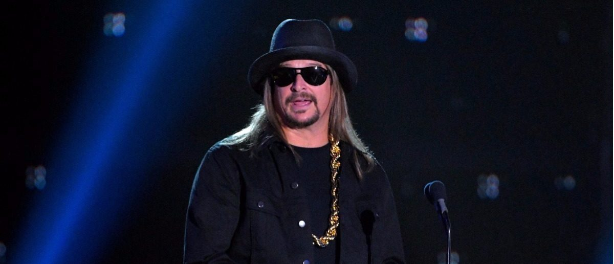 2017 CMT Music Awards – Show - Nashville, Tennessee, U.S., 07/06/2017 - Kid Rock presents the Video of the Year award. REUTERS/Harrison McClary