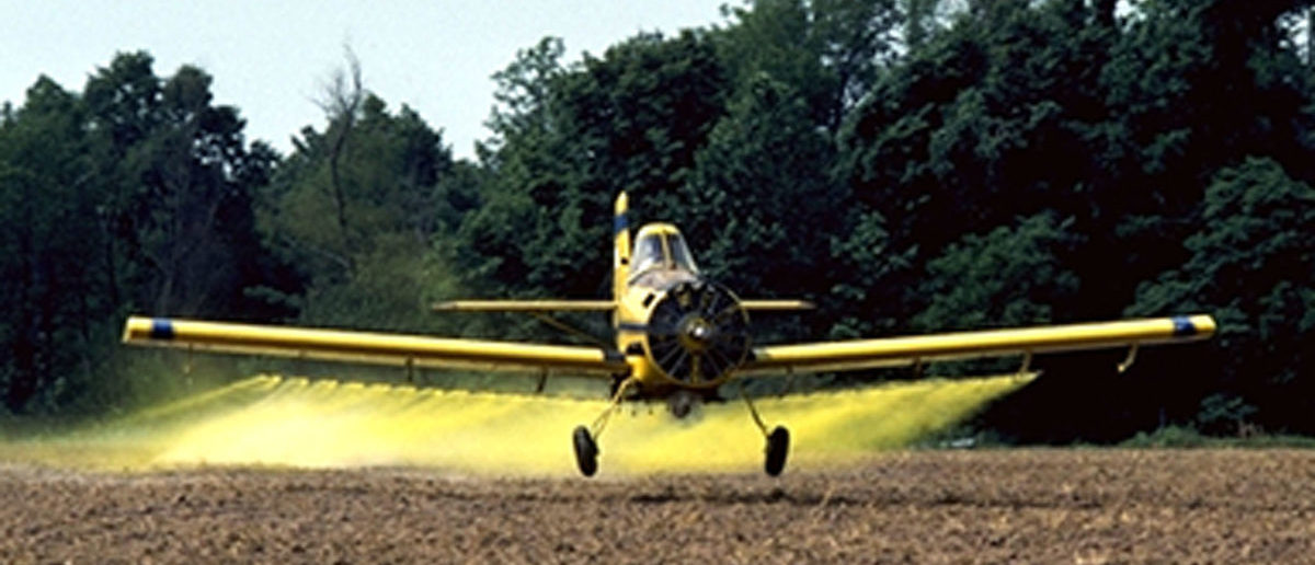 dusting planes. REUTERS/Tim McCabe/USDA Photo/Handout