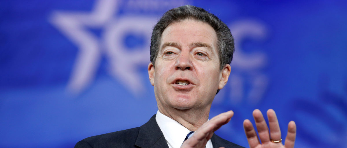 Republican Governor Sam Brownback of Kansas, speaks during the Conservative Political Action Conference (CPAC) in National Harbor, Maryland, U.S., February 23, 2017. REUTERS/Joshua Roberts