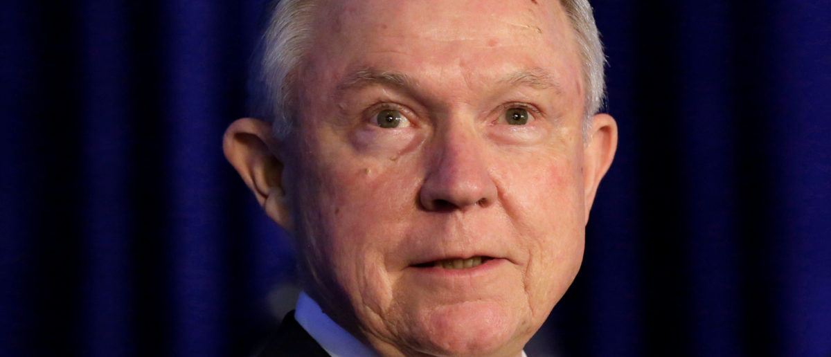 U.S. Attorney General Jeff Sessions attends a summit on crime reduction and public safety in Bethesda, Maryland, U.S., June 20, 2017. REUTERS/Yuri Gripas