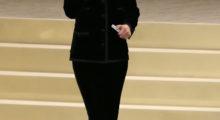 Kristen loves her black (Photo Credit: REUTERS)