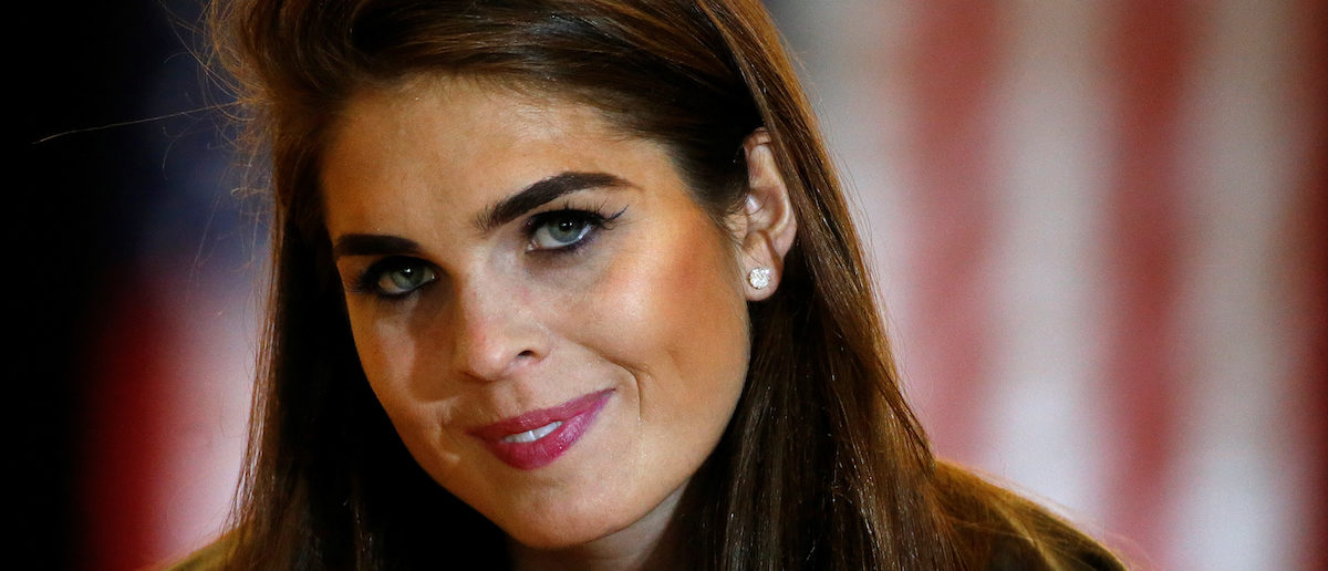 The director of strategic communications, Hope Hicks, makes $179,700 a year (REUTERS/Carlo Allegri)