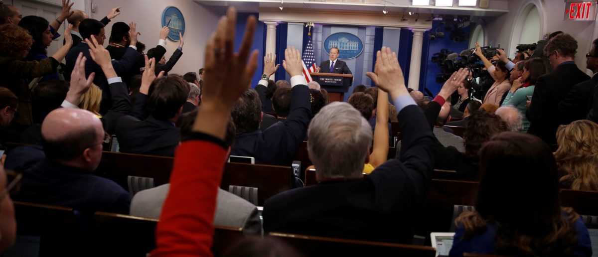 White House Press Secretary Sean Spicer holds the daily press briefing at the White House in Washington, U.S. March 30, 2017. REUTERS/Jonathan Ernst