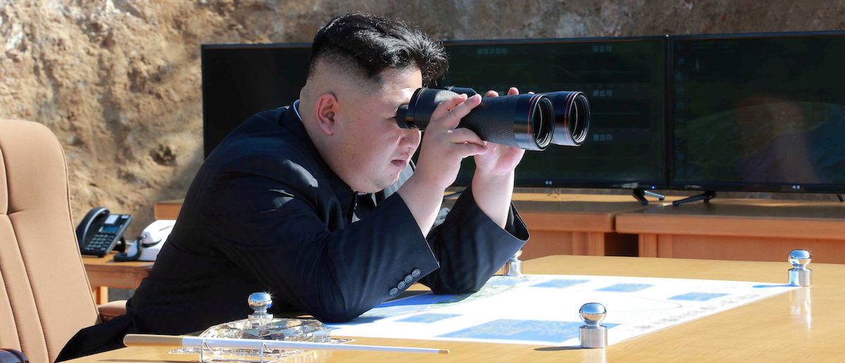 North Korean Leader Kim Jong Un looks on during the test-fire of inter-continental ballistic missile Hwasong-14 in this undated photo released by North Korea's Korean Central News Agency (KCNA) in Pyongyang, July, 4 2017. KCNA/via REUTERS ATTENTION EDITORS - THIS IMAGE WAS PROVIDED BY A THIRD PARTY. REUTERS IS UNABLE TO INDEPENDENTLY VERIFY THIS IMAGE. NO THIRD PARTY SALES. SOUTH KOREA OUT. - RTX39YHL