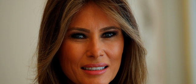 First Lady of the U.S. Melania Trump looks on during her meeting with First Lady of Poland Agata Kornhauser-Duda at the Belvedere Palace in Warsaw, Poland July 6, 2017. REUTERS/Laszlo Balogh - RTX3A8XM
