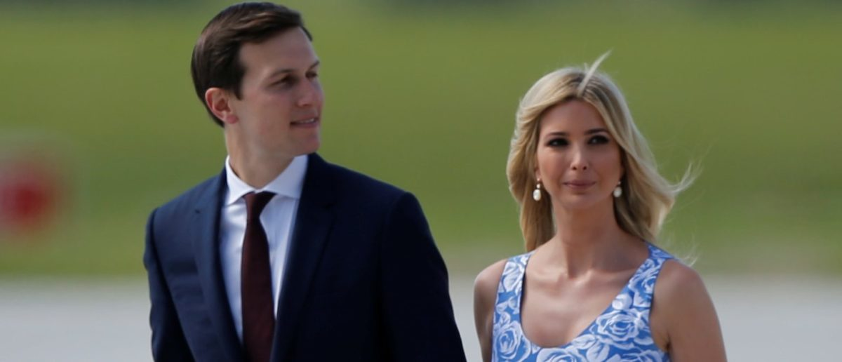 Ivanka Trump and White House senior advisor Jared Kushner arrive for the G20 leaders summit in Hamburg, Germany July 6, 2017. (REUTERS/Axel Schmidt)