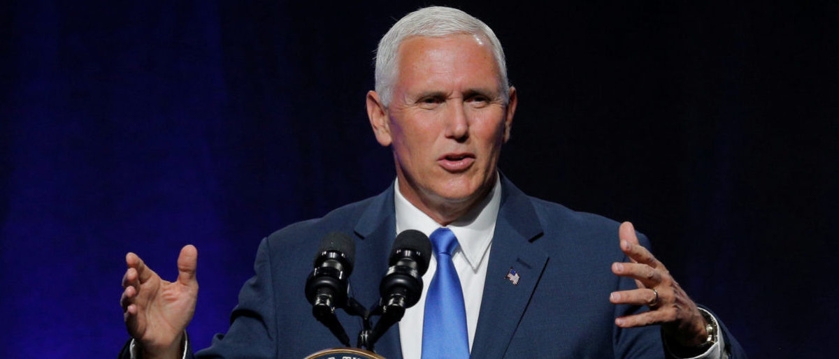 United States Vice President Mike Pence addresses the National Governors Association summer meeting in Providence, Rhode Island, U.S., July 14, 2017. REUTERS/Brian Snyder - RTX3BIAV