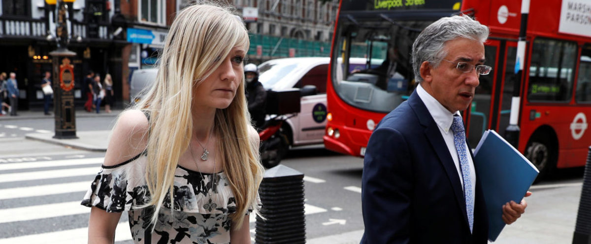 Charlie Gard's mother Connie Yates and her lawyer arrive at the High Court for a hearing on her son's end of life care, in London, Britain July 25, 2017. REUTERS/Peter Nicholls - RTX3CTQY