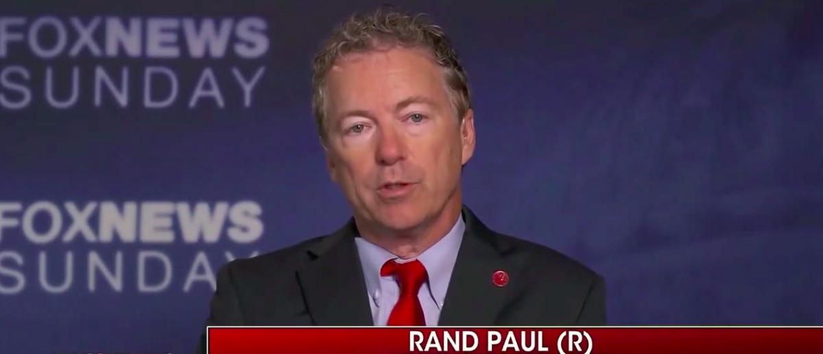 Screen Shot Rand Paul Fox News Sunday (FOX: July 2, 2017)