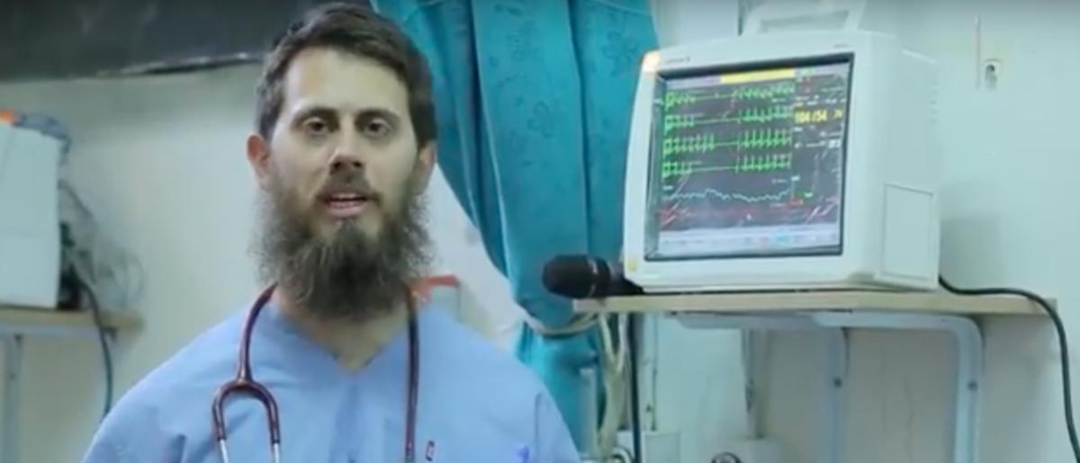 Tareq Kamleh, aka Dr. Jihad, in ISIS propoganda video. Youtube/رماح الانصاري Screen Shot 2017-07-05 at 11.37.37 AM
