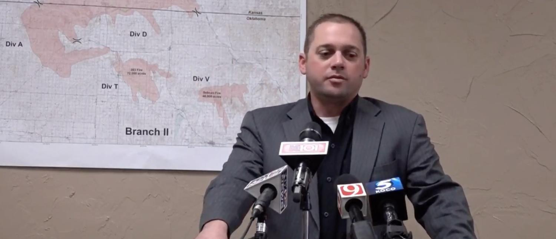 """""""Oklahoma Senator Bryce Marlatt Speaks of Wild Fires"""" [YouTube/Screenshot/Public -User: Lynn L. Martin]"""