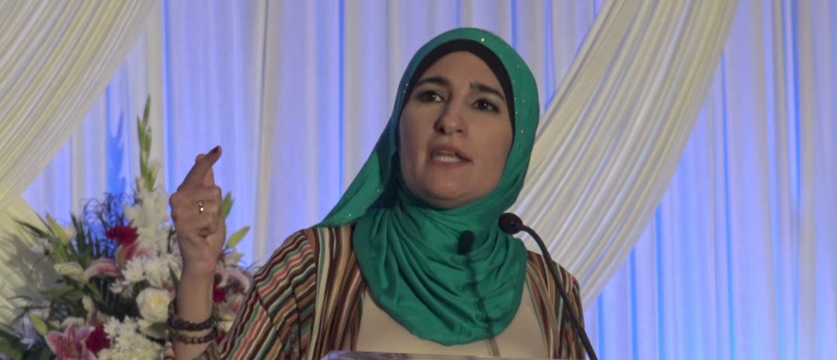 Linda Sarsour speaking at ISNA convention. (Youtube screen grab)