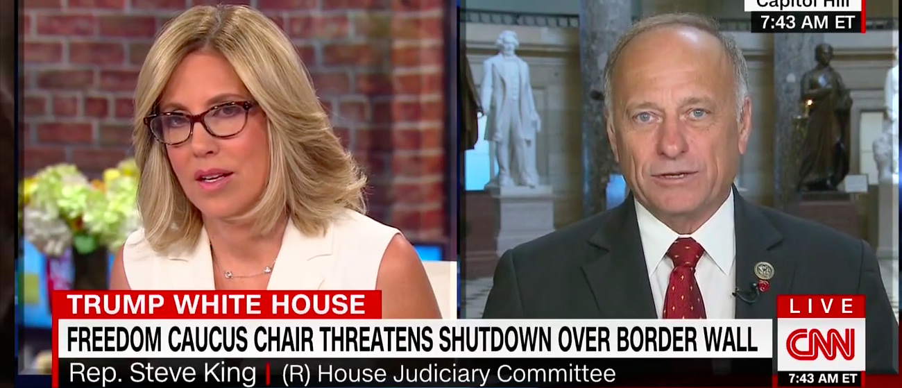 Rep. Steve King on CNN's New Day with Alisyn Camerota July 12, 2017. (Screengrab CNN)