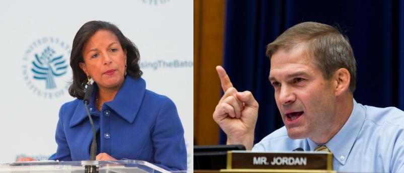 Susan Rice and Rep. Jim Jordan (Getty Images)