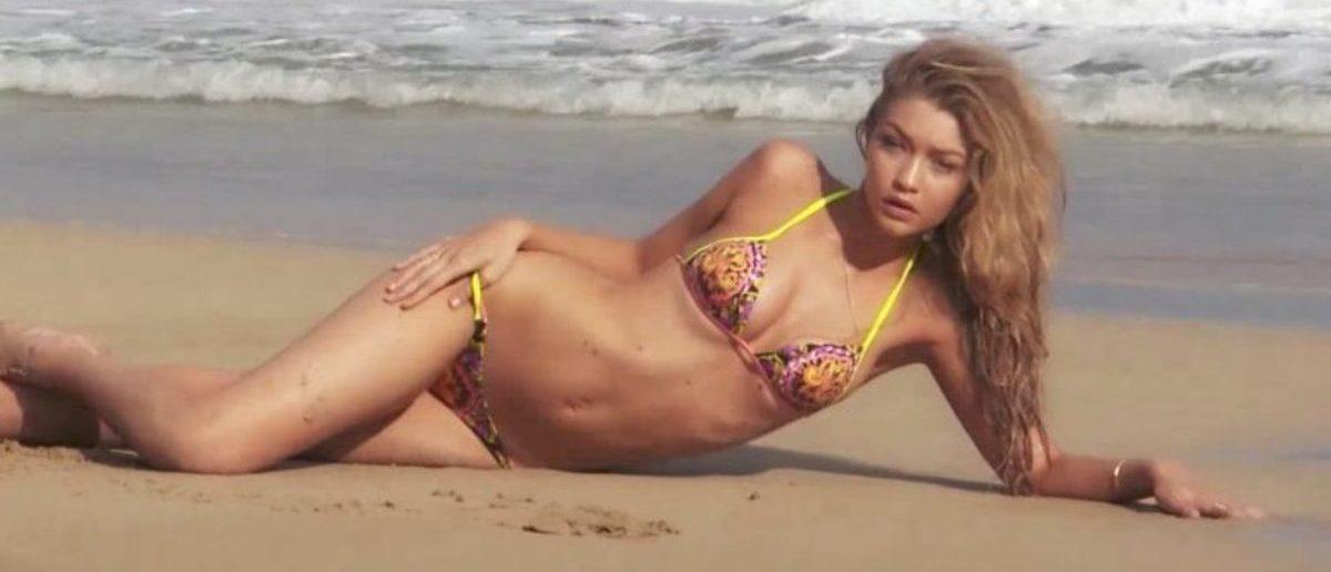 Gigi Hadid (Credit: Screenshot/YouTube Sports Illustrated Swimsuit)