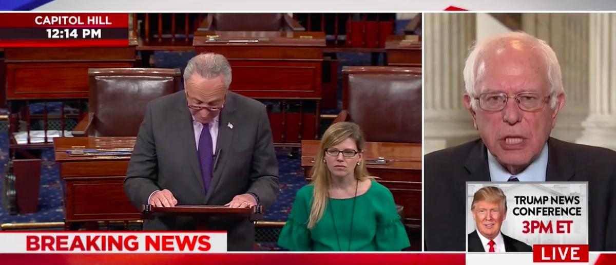 Screen Shot Sen. Bernie Sanders Attacks GOP Health Bill (CNN: July 25, 2017)