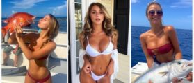 This Model Sure Seems To Love Fishing And Bikinis