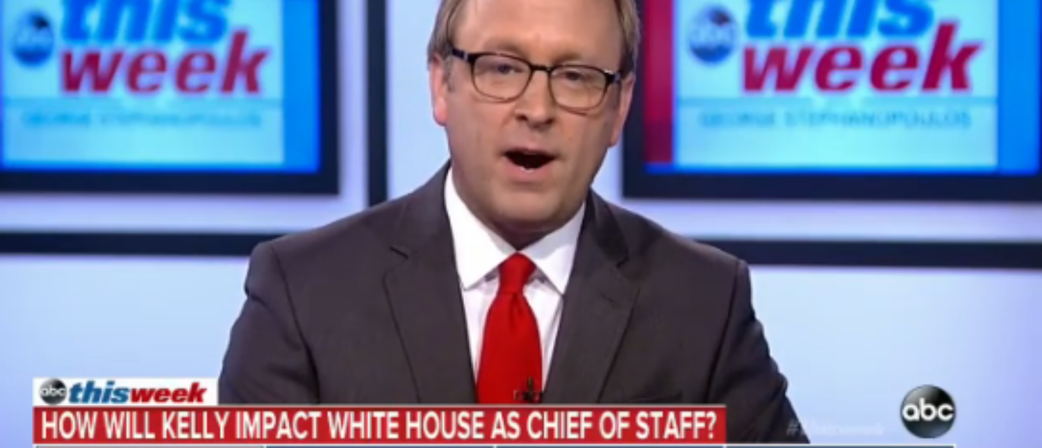 Jon Karl speaks on ABC about John Kelly, the new White House chief of staff, in July 2017. (Screenshot/ABC)