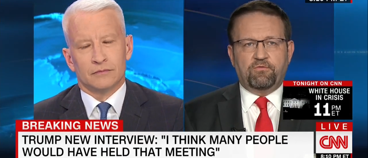 Sebastian Gorka CNN 7-12-17/Screenshot/TVEyes