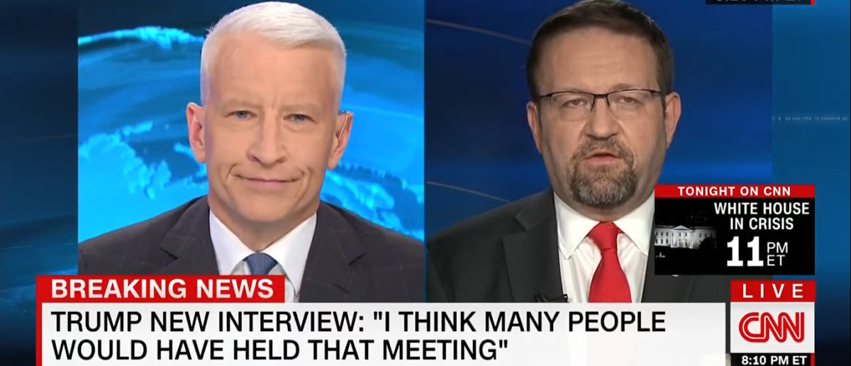 Sebastian Gorka On Anderson Cooper 7-12-17/Screenshot/TVEyes