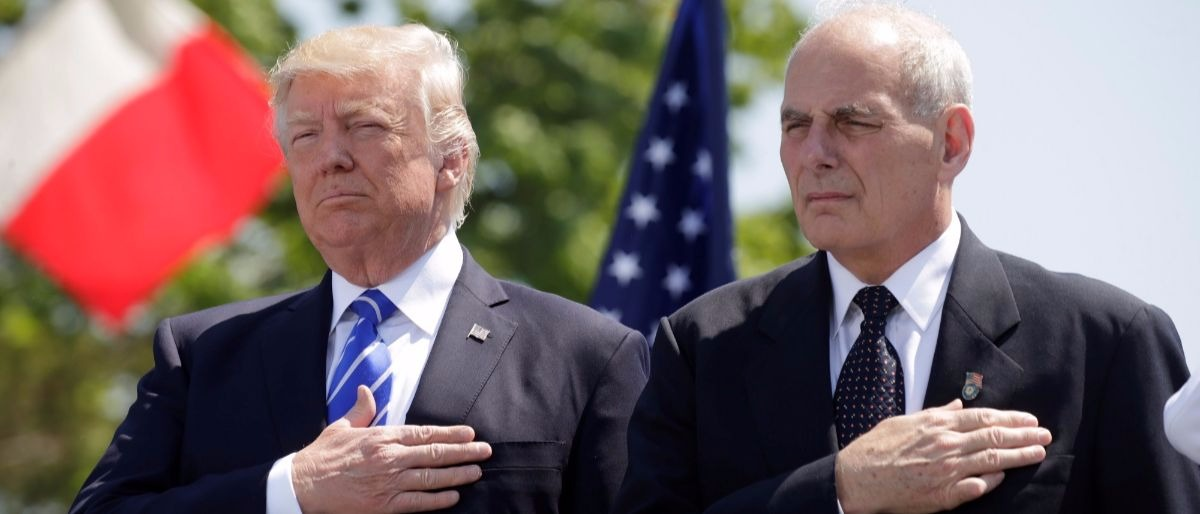 Trump and Kelly Reuters/Kevin Lamarque