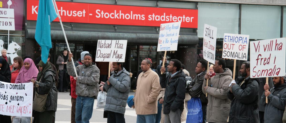 Shutterstock/ Somalian protest against the war (Stockholm, Sweden)