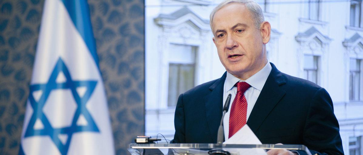 Shutterstock/ PRAGUE - DECEMBER 5: Israeli prime minister Benjamin Netanjahu during his visit in Prague, Czech republic, December 5, 2012