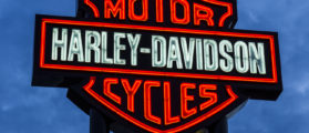 Las Vegas - Circa December 2016: Harley-Davidson Local Signage. Harley Davidson's Motorcycles are Known for Their Loyal Following Jonathan Weiss / Shutterstock.com