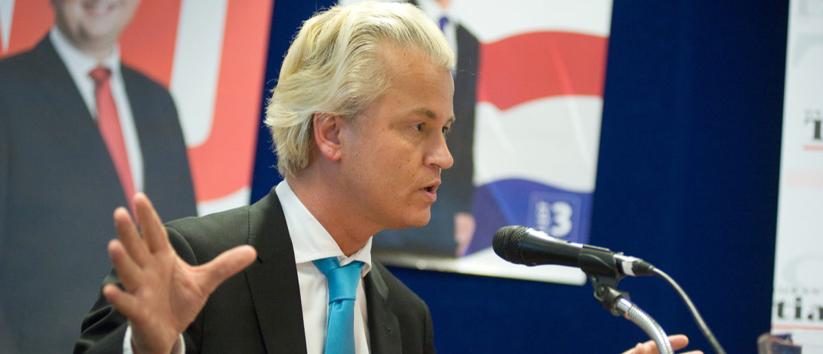 NETHERLANDS - SEP 05: Political leader Geert Wilders of the Dutch center right party PVV during a radio interview. (Photo: Shutterstock/ ENSCHEDE)