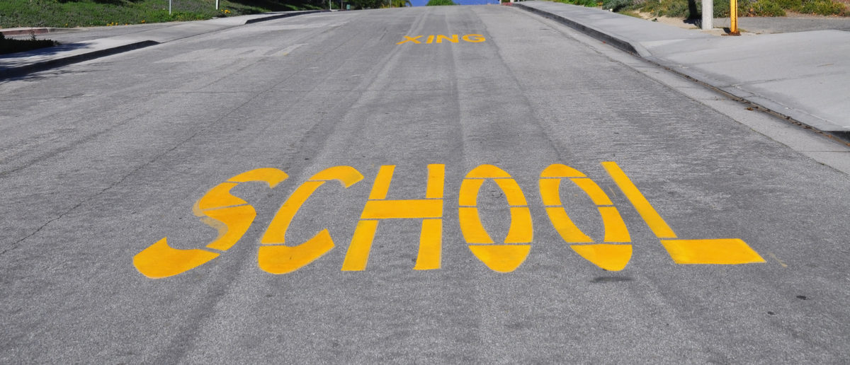 "Shutterstock/ Large ""SCHOOL"" sign painted on an urban street academicsamericaasphaltaugustback to schoolbuscaliforniacarscautionchildrencitycrossingdangereducationfallgradegrammarguardhighk-12kidslearningnoticepavementplayingprincipalroadschoolschool crossingschool zoneseptembersignslowslow downstreetstudentsteacherstrafficwarningwordsyellowShow more"
