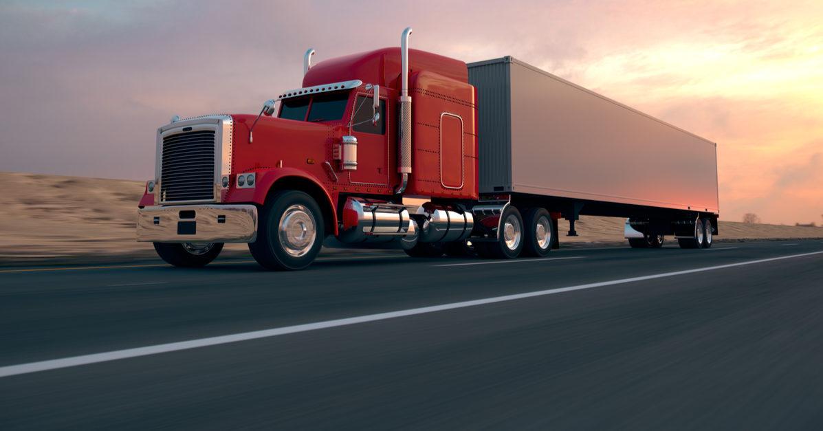 Shutterstock/ 18 Wheel Truck on the road during the day. Side view.  truckhighwaytruckerroadcargoserviceindustrylogisticwheeltransportdeliverymovingstoragefuelfreightshippingasphaltautomobilebusinessbusycontainerdaylightdeliverdrivedrivereighteenfastglobalheavylorrymotionmotorwayspeedsupplytraffictransittransportationtransportertrasnportationtraveltriptruckingvehiclewayShow more
