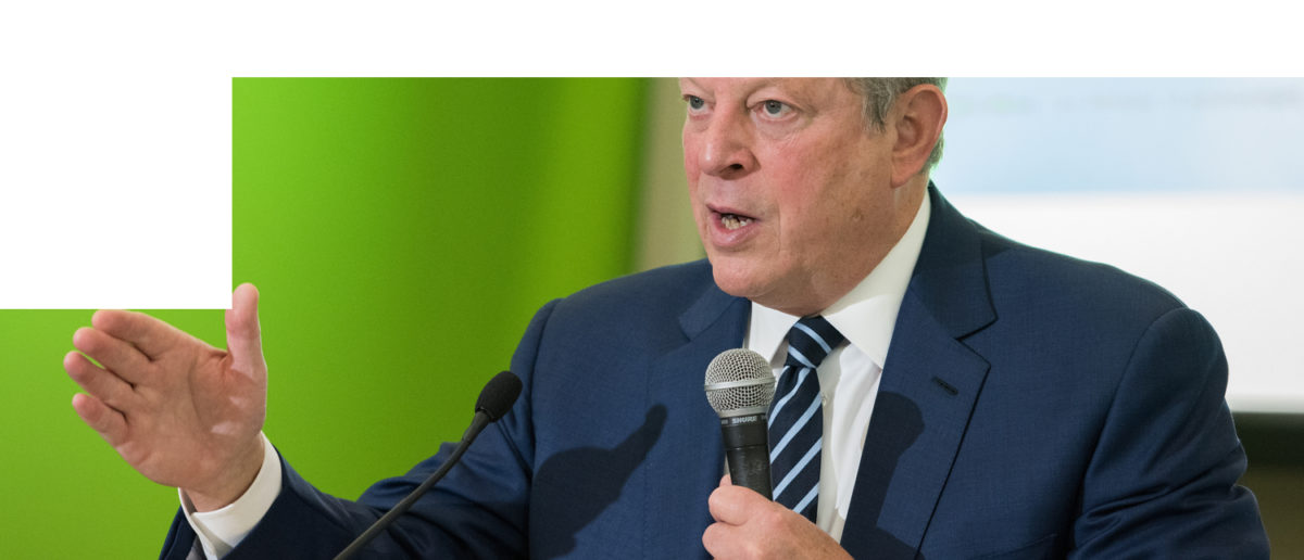LE BOURGET near PARIS, FRANCE - DECEMBER 7, 2015 : American politician and environmentalist Al Gore at the Paris COP21, United nations conference on climate change. (Frederic Legrand - COMEO / Shutterstock.com)