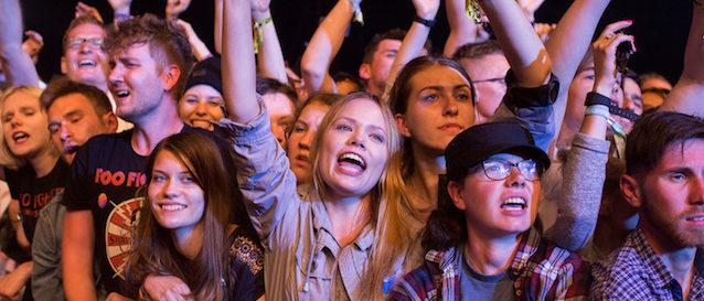 Festival goers react during Open'er music Festival in Gdynia, Poland June 29, 2017. Picture taken June 29, 2017. REUTERS/Matej Leskovsek