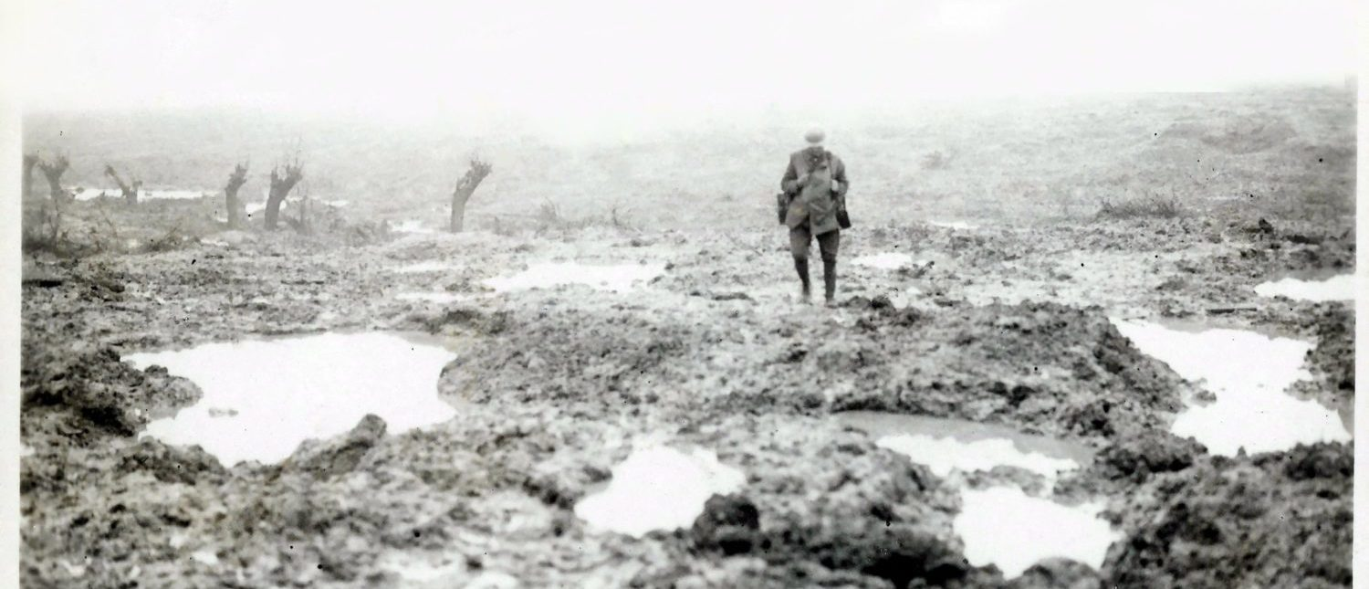 The battlefield at Passchendaele (Wikimedia Commons)