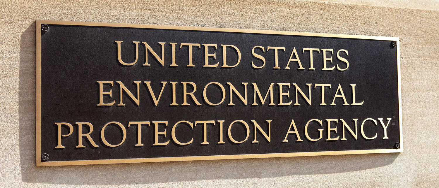 WASHINGTON, DC - MAY 4: Plaque outside the United States Environmental Protection Agency (EPA) in downtown Washington, DC on May 4, 2015. (Shutterstock/Mark Van Scyoc)